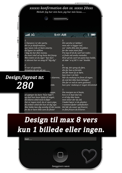 Iphone design til festsange