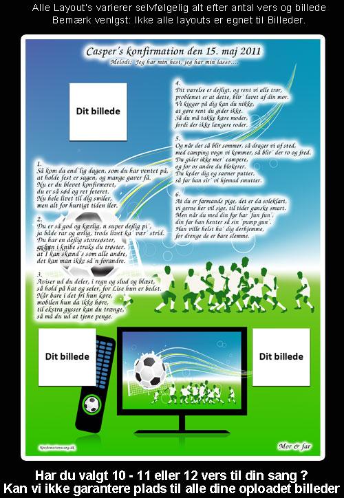 Fodbold design til festsange