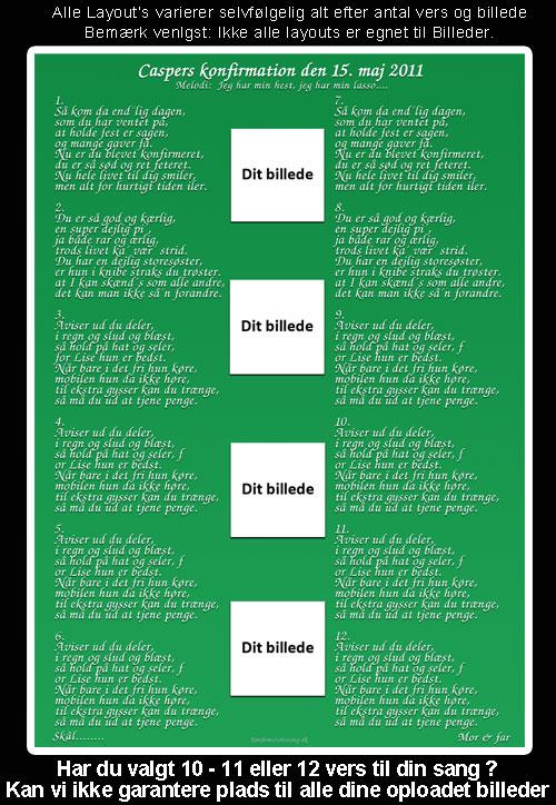 Grønt design til festsange