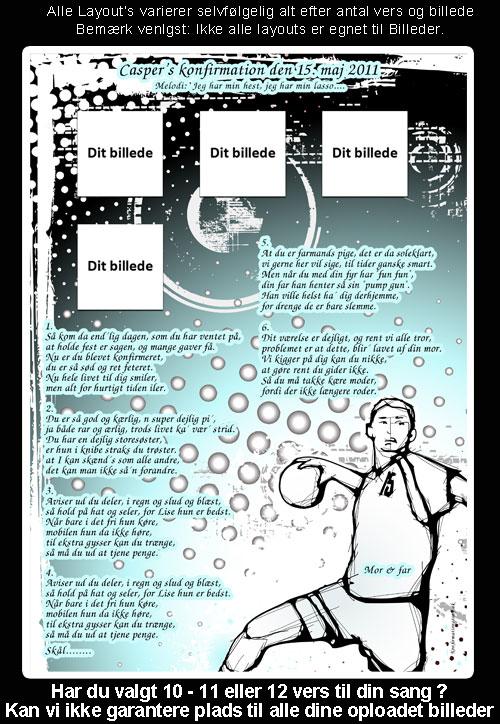 Håndbold design til festsange