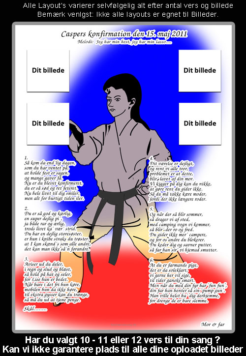 Judo design til konfirmationssang