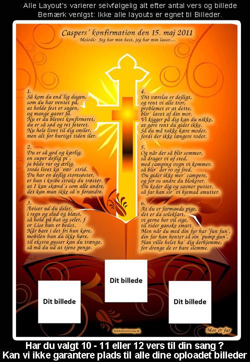 Kors design til festsange