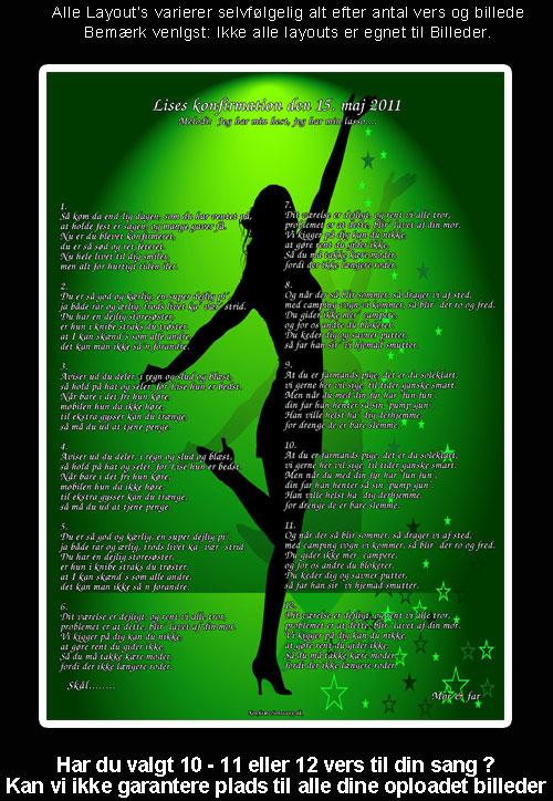 Danser i grønt - festsange design