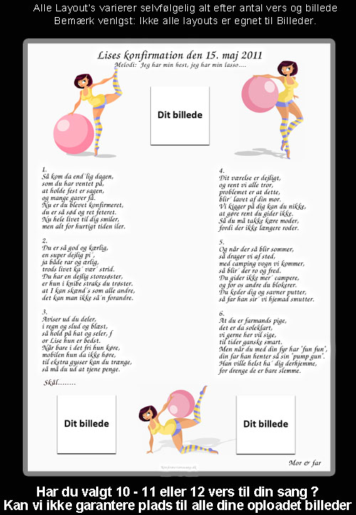 Gymnastik design til festsange