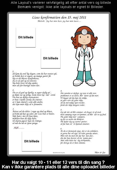 Læge design til festsange