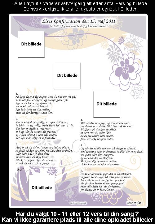 Pastel blomster design til festsange