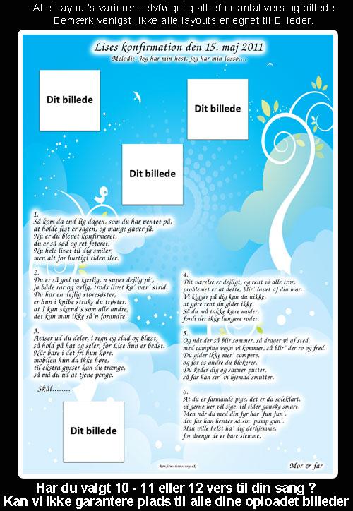 Plater og Sky design lys blå til festsange