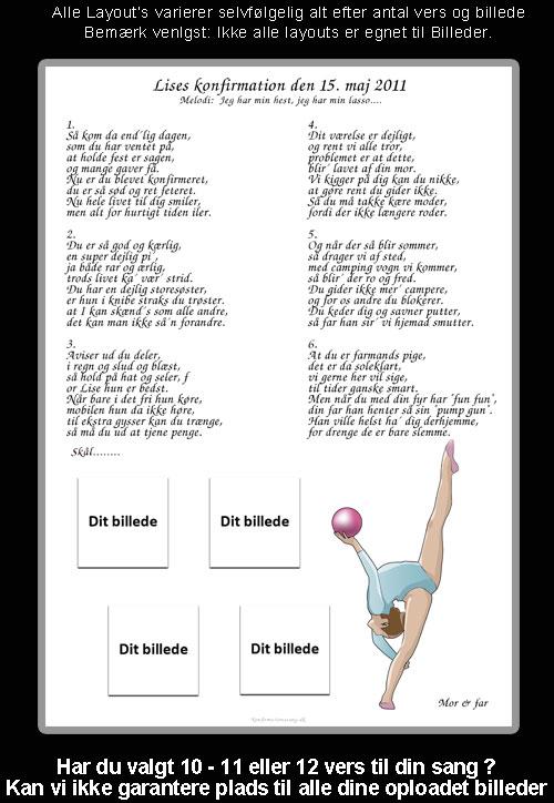 Gymnast - design til festsange