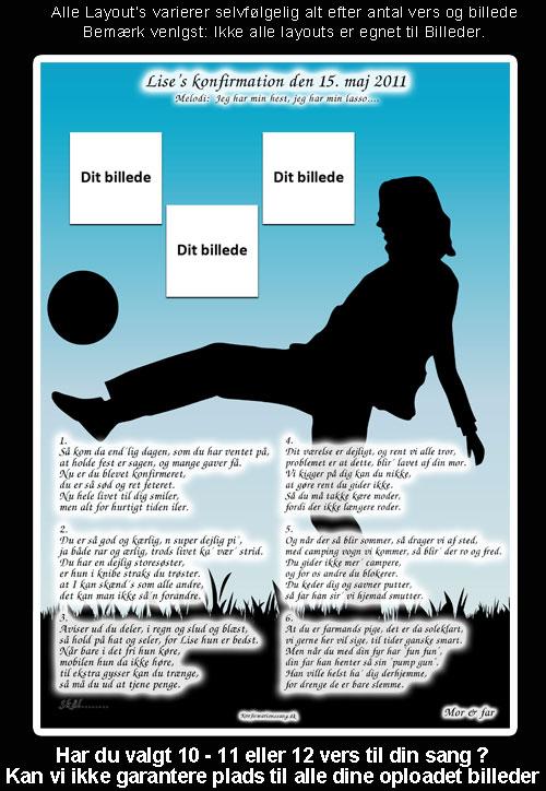 Pige spiller fodbold design til festsange