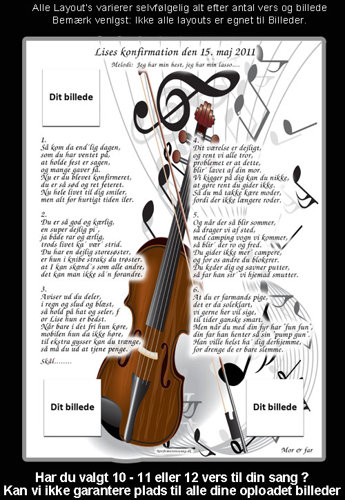 Klasisk musik design til festsange